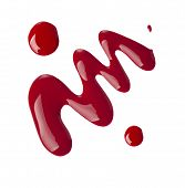 picture of nail paint  - Red nail polish  - JPG