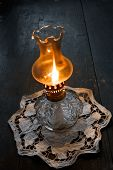Flame Of An Ancient Oil Lamp