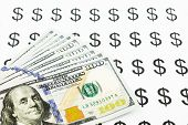 Dollar Sign And Money Currency Banknotes