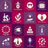 Wine emblems set