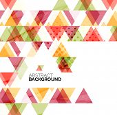 Triangle geometric abstract background, colorful business or technology design on white with sample