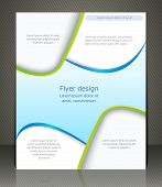 Vector Layout Shop Or Salon Flyer, Magazine Cover, Or Corporate Design Template Advertisment