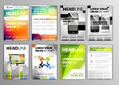 set of flyers