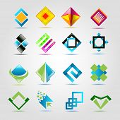 abstract square stylized sign vector