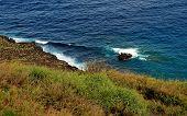 Volcanic Rock In The Ocean