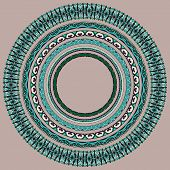 set of round geometrical frames, circle border ornament
