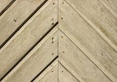 Handcrafted Door Plank Lines With Nails Forming Angle