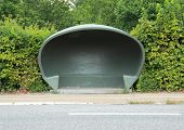 Special Danish Weather Shelter At Bus Stop