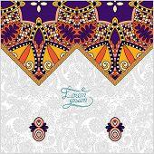 oriental decorative template for greeting card or wedding invita