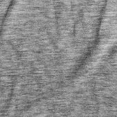 Grey Fabric Texture With Delicate Striped Pattern.