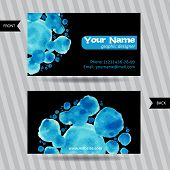 Business cards with round watercolor blots