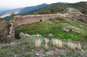 The ruins of Siria medieval fortress from Arad county in Romania