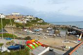 View of Newquay harbour North Cornwall England UK