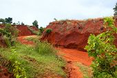 The Red Canyon At Binh Thuan, Vietnam.