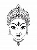 picture of navratri  - abstract artistic detailed durga background vector illustration - JPG