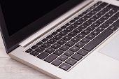 Closeup Of Lightweight Laptop Computer