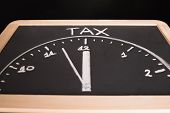 Tax Time Drawing On Blackboard