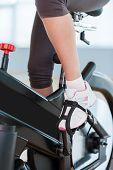 Girls On Exercise Bikes.