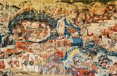 picture of mural  - Over 300 year old mural paintings in Buak Khrok Luang Temple Chiangmai Thailand - JPG