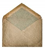 Retro Style Post Mail Envelope. Grangy Textured Paper