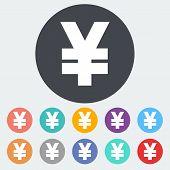 Yen icon.