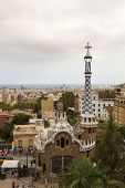 Tourists Admire The Park Guell
