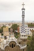 View From Park Guell To Barcelona