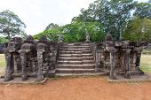 The Ancient Ruins Of A Historic Khmer Temple In The Temple Complex Of Angkor Wat In Cambodia.