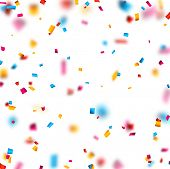 pic of confetti  - Colorful celebration background with defocused confetti - JPG