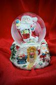 Snow Globe In The Santa