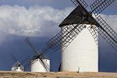 Windmills in Campo de Criptana, Spain