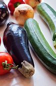Fresh organic vegetables close-up