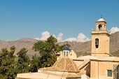 stock photo of costa blanca  - Old churches under Mediterranean sun Orihuela Costa Blanca - JPG