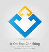 On Line Coaching Business Icon