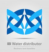 Water Distributor Business Icon
