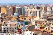 View on Mercado Central from the tower in Valencia Spain.