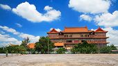 Chinese Buddhist Monastery With Blue Sky