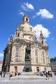 Frauenkirche,landmark cathedral of Dresden
