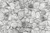 Seamless Background Texture Of White Stone Wall