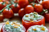 Healthy Red Tomatoes Appetizer