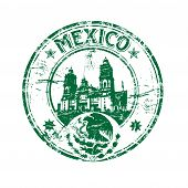Mexico grunge rubber stamp