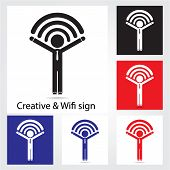 Set Of  Wifi Icons For Business Or Commercial Use.