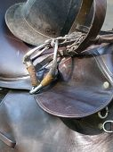 Saddle, Bridle, and Hard Hat