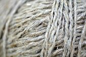 An Extreme Close Up Of A Ball Of String Texture