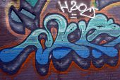 Oct 1st 2014 Venice beach,California  Nice editorial Image of a huge graffiti painting