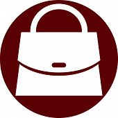 Woman bag icon. Clothing and accessories theme.