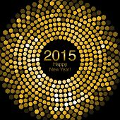 Happy New Year 2015 - Hexagon Disco lights