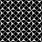 Black and white geometric abstract seamless pattern, contrast background.