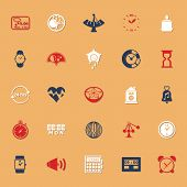 Design Time Classic Color Icons With Shadow