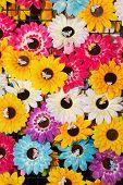 Plastic Sun Flower As Background
